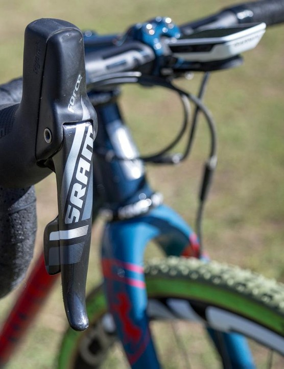 Milburn runs a full SRAM Force CX1 groupset