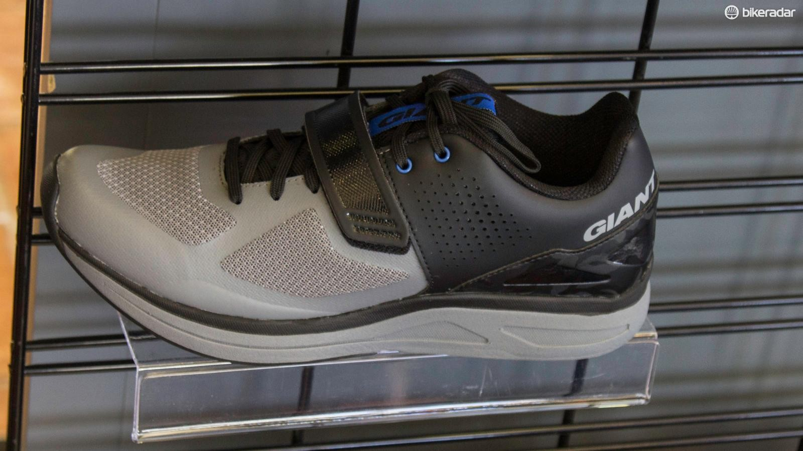 No Giant isn't making running shoes: there's an SPD nylon plate hidden in the sole