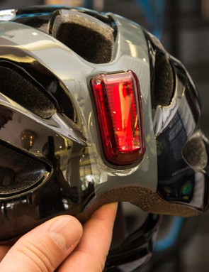 This Numen Link tail light isn't the final version, but it attaches magnetically to the back of the helmet
