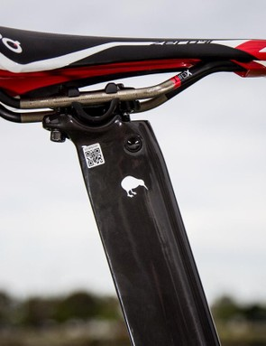 Despite being an all-black bike there are still a few markers to its heritage