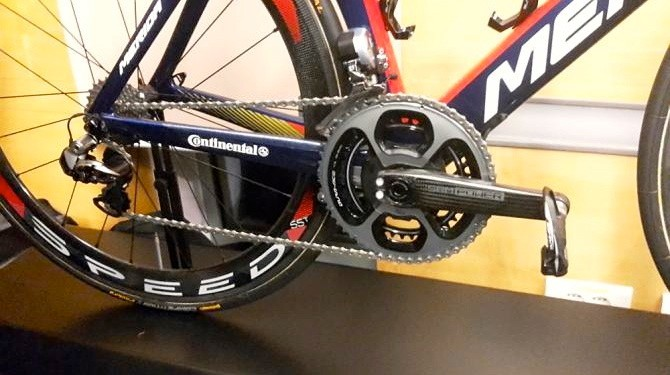 The new bikes were displayed with Shimano's Dura-Ace Di2 9070 groupset, but the team will be riding the new 9170 components when they come out in February 2017