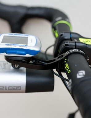 In contrast to most of the out in front mounts on the market, the Duo Mount attaches to the left of the stem