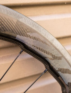 Zipp says the biggest advantage to its ImPress graphics are they don't interfere with the dimples and allow them to function the way they were designed to