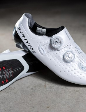 The S-Phyre's are the first time Shimano has used BOA dials on its top end shoes