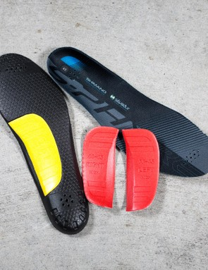 While the insoles aren't heat mouldable, they do come with interchangeable arch supports