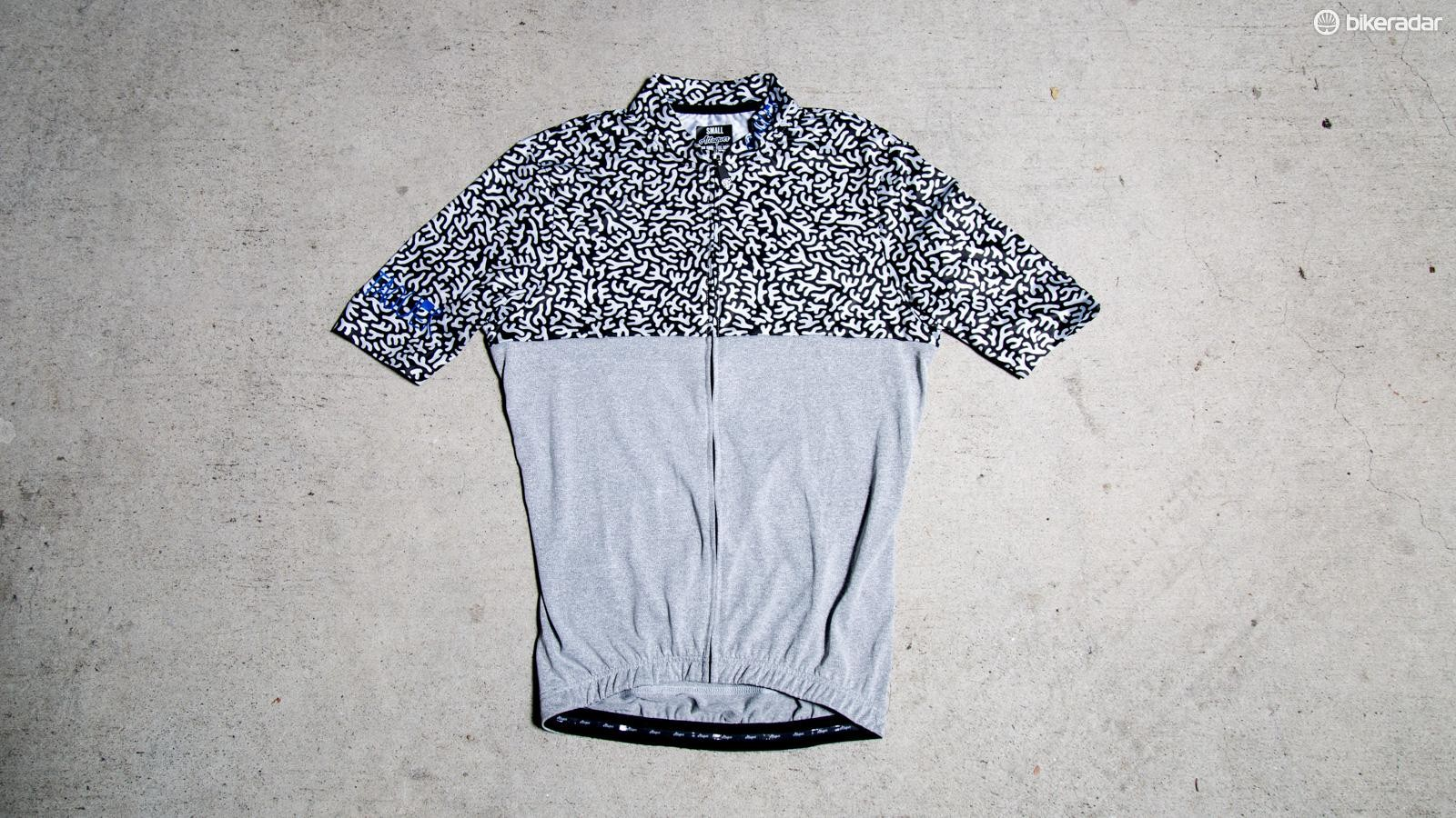 The All Day Jersey features a unique lightweight, poly top, cotton blend bottom