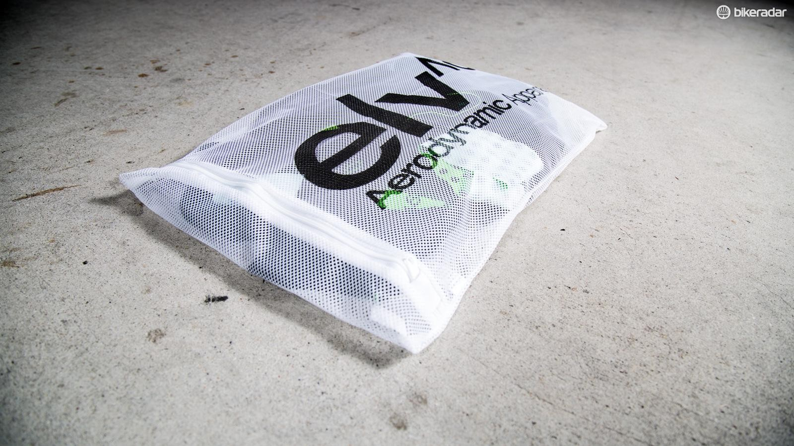 Elv^8 is serious about its kit and ships each one with a wash bag to make sure it will last