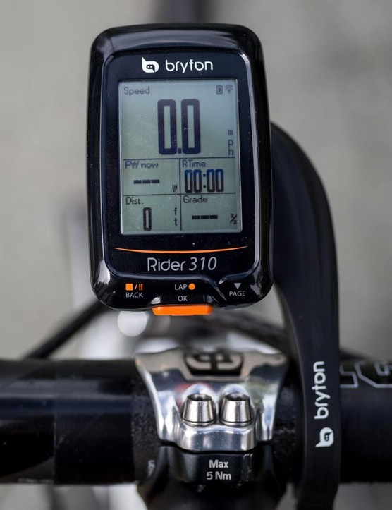 Bryton's Rider 310 is a feature-packed, powerful little computer