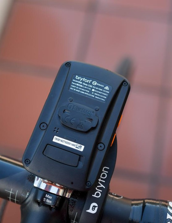 Bryton's quarter-turn mounting system is slightly different to Garmin's