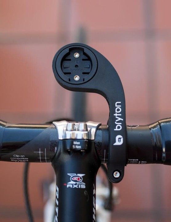 The out-in-front mount has a hinge for easy installation