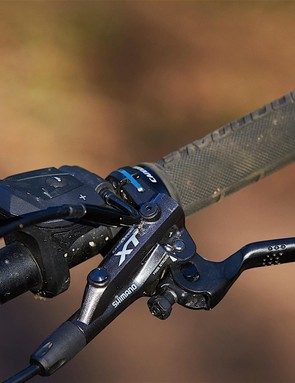 Shimano's XT brakes have suffered with a wandering bite point in the past, but this particular set proved consistent and reliable throughout testing
