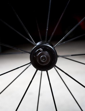 The front wheels gets 19 radial spokes