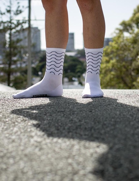 Pictured are Attaquer's 'Waves' socks, but they come in a plethora of desings and colours