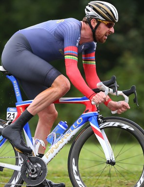 Sir Bradley Wiggins during stage 7a of the Tour of Britain