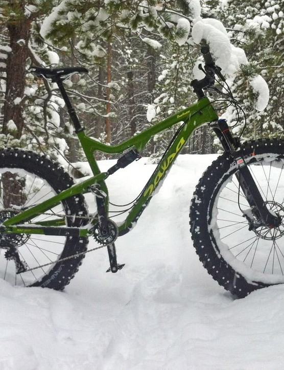 100mm of suspension front and rear make for a fat bike that rides far better than a fat bike