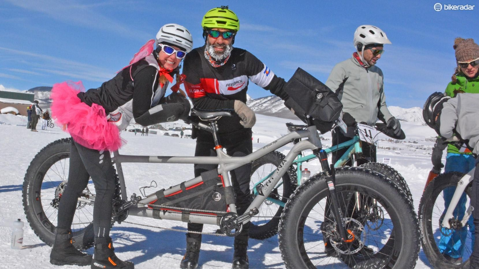 This fat bike crushed the course with twice the power