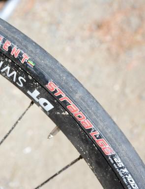 A puncture-resistant belt lies under the tread