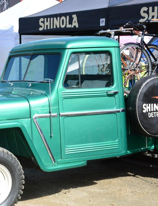 Shinola claims this ancient truck runs and drives, but it's still trailered from festival to festival