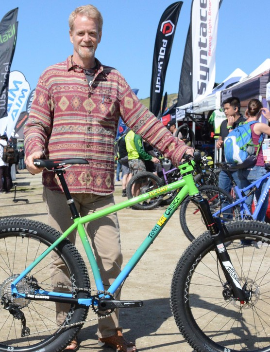Chris Chance was at Sea Otter showing off his new Yo Eddy 2.2