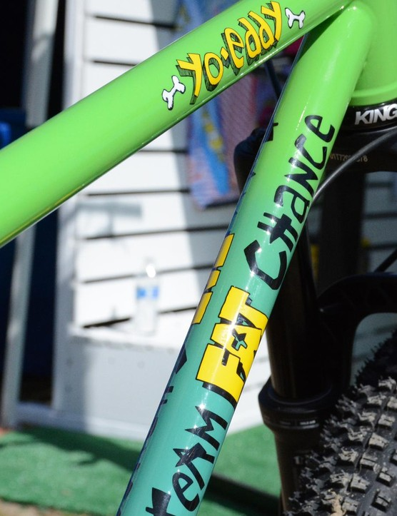 Even with new tire sizes, Fat Chance stays true to its eye-catching fade paint work