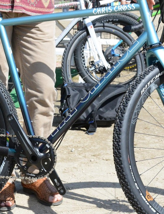 Fat Chance's Chris Cross monstercross frame is designed, welded and painted in the US