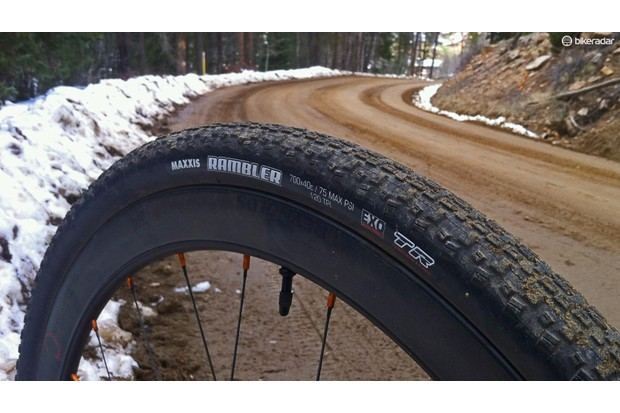 The Maxxis Rambler EXO TR is a versatile gravel and dirt tyre