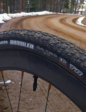 Maxxis's Rambler EXO TR tire is the company's first gravel-specific offering