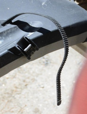 The inside wheel strap buckle can be subjected to a lot of road grime