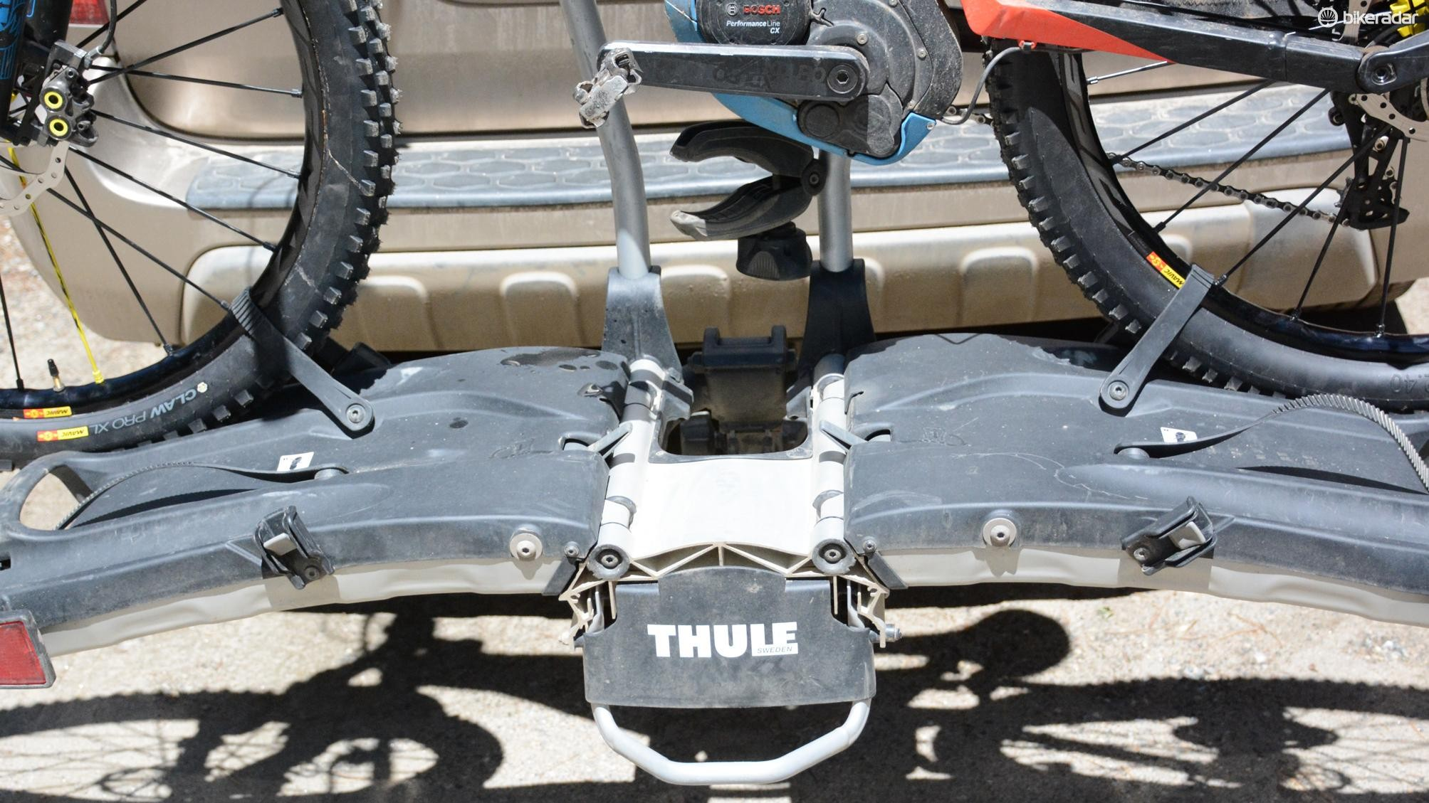 The wheel straps are set too narrow and aren't fat bike compatible