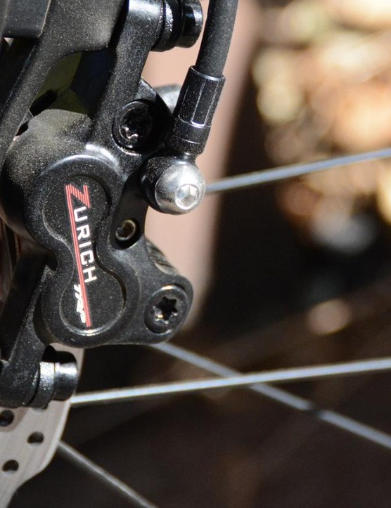 TRP Zurich disc brakes were a smart spec and had good modulation with not too much power