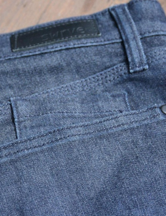 There's a smaller pocket inside the right rear pocket