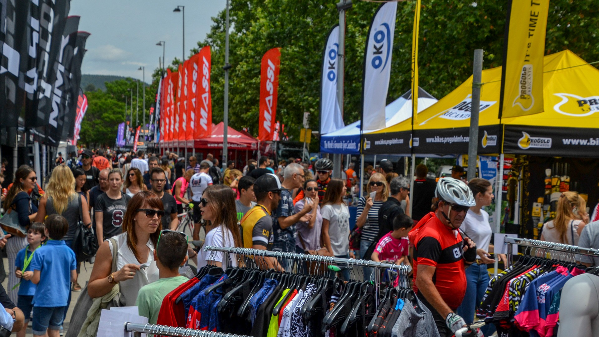 The show's huge expo area was filled with the hottest bikes and kit