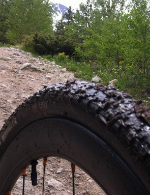 Stream crossings equalled wet, muddy tread