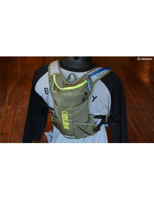 The Chase bike vest rides a bit higher on the back than a regular pack