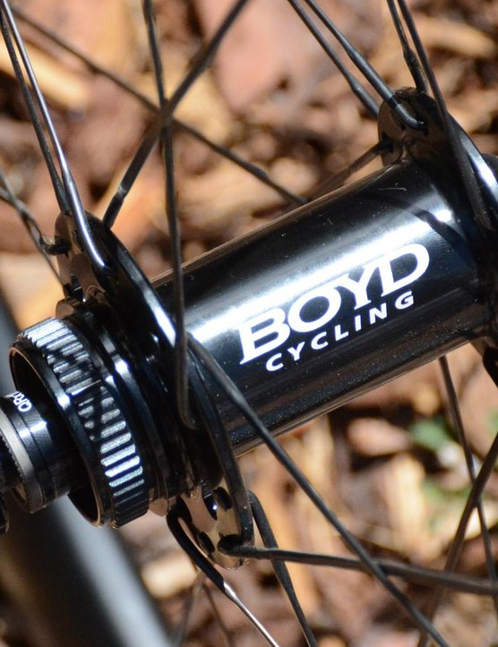 Boyd's hubs feature swappable endcaps for quick release and thru-axle compatibility