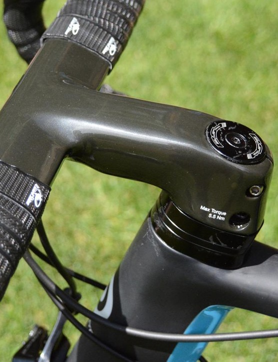 The stem and spacers are designed for an aero advantage