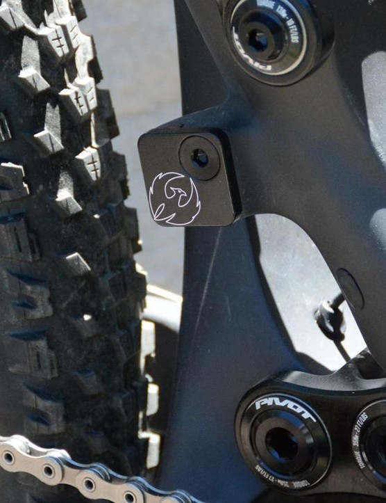 Your eyes do not deceive, that is a front derailleur mount. This is an XC race bike, after all