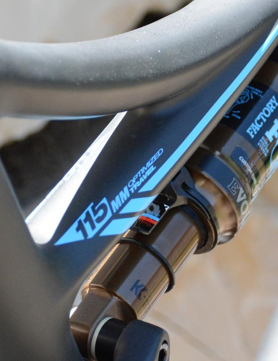 115mm of travel comes from the dw-link rear suspension