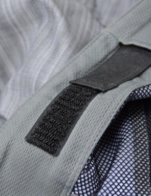 The hook and loop waist adjusters are found cleanly on the interior of the waistband