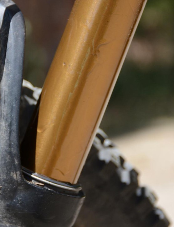 ForkBoost slathered on my fork's stanchion