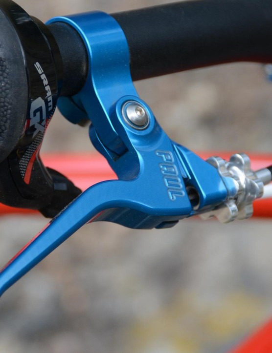 A whole bunch of blue ano Paul Components are on board, including the renowned Love Levers