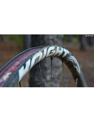 The carbon rims held up dutifully with no dings or flat spots