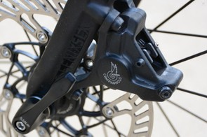 Disc brakes on road bikes are good. Although the Campy logo on a disc caliper still seems a bit odd