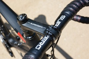 The Deda Superzero bar was aero and not that great on the tops in my opinion