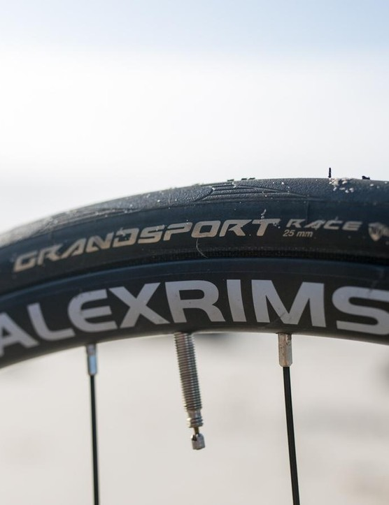 The Alex Rims and Continental Grand Sport tyres