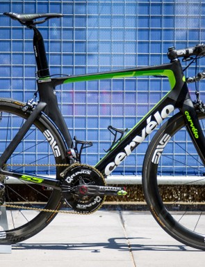 Check out Ben O'Connor's Cervélo S5. Look at all that seatpost!