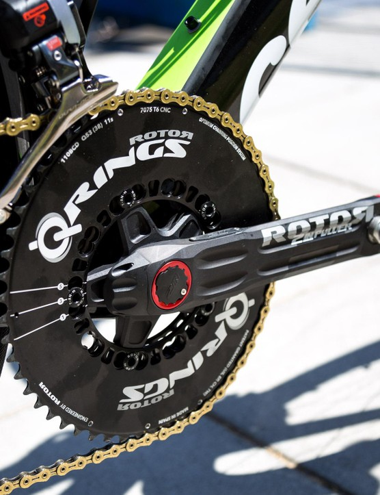 O'Connor is running Rotor's Q-rings set to the third OCP