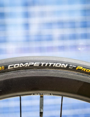 O'Connors ENVE wheels are wrapped in 25c Conti Competition tubulars