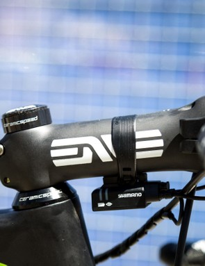 Despite the small frame and high seat height, a 130mm stem isn't that out of the ordinary for a pro rider