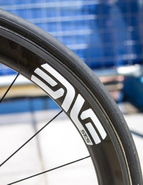 O'Connor is rolling on ENVE SES 4.5 wheels....
